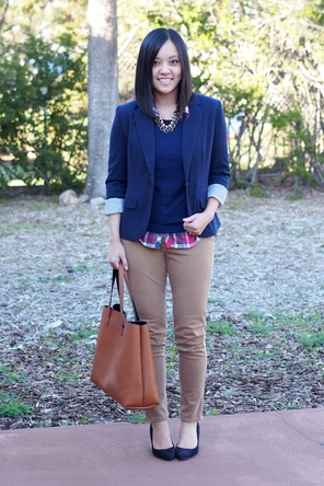solid sweater/solid pants/print shirt