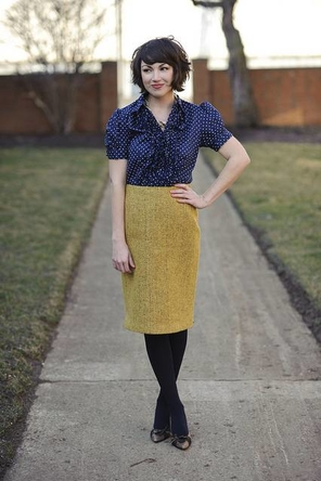 Mustard and Polka Dots