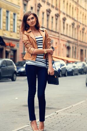 Caramel Leather + Stripes