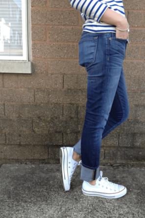 stripes / rolled denim / sneaks