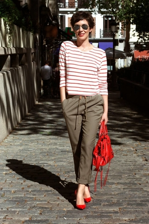 red stripes + heels