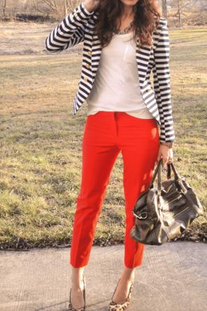 Orange and stripes