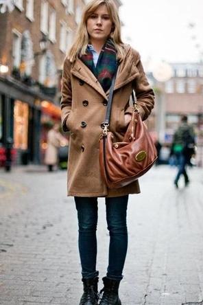 Camel Coat + Plaid