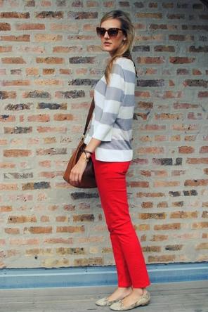 Animal Print + Stripes + Red