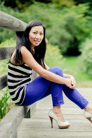 Stripes and blue skinnies