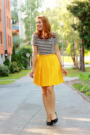 Yellow and black and white stripes